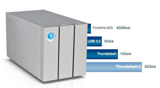 vitesse USB thunderbolt - LaCie lance le 2big Thunderbolt 2
