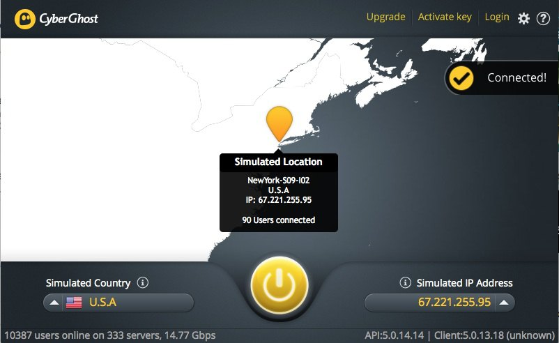 VPN USA - Test du VPN CyberGhost