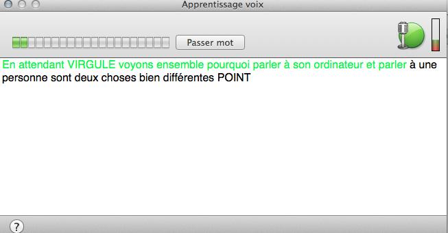 apprentissage voix - Dragon Dictate 4 ou quand votre MAC obéit au doigt et à l'oeil grâce à votre voix