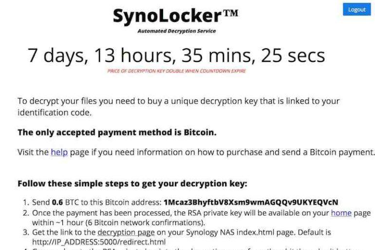 SynoLocker 770x513 - SynoLocker, suite et fin du calvaire pour Synology