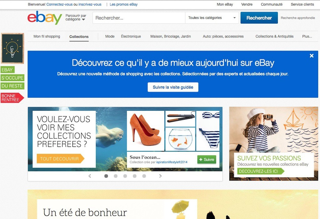 ebay collections home - eBay ajoute les collections