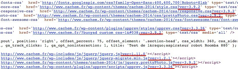 source code version - 3 fonctions indispensables pour WordPress