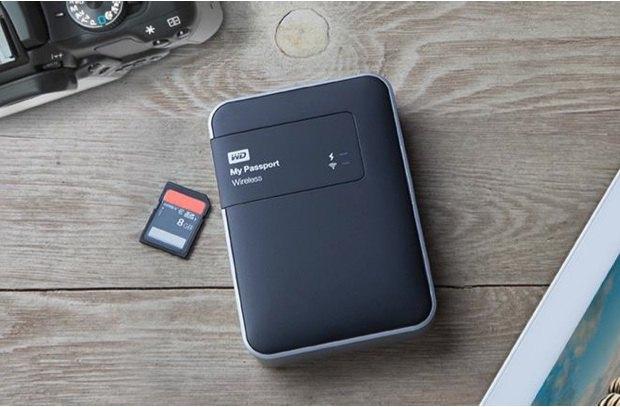 WD My Passport Wireless - WD My Passport Wireless, disque dur externe Wi-Fi avec lecteur SD