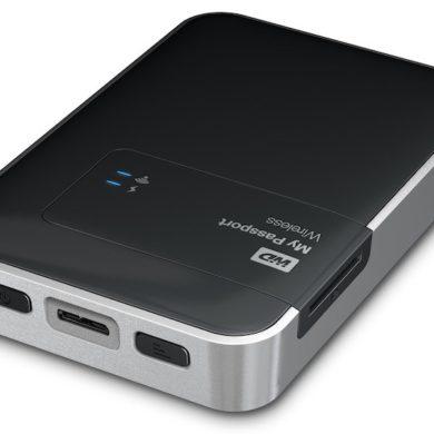 WD Wireless 390x390 - WD My Passport Wireless, disque dur externe Wi-Fi avec lecteur SD