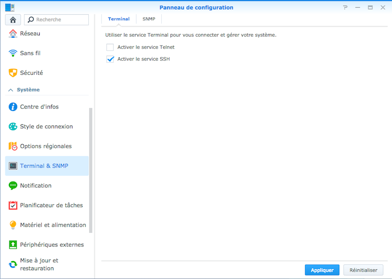 activer-ssh-synology