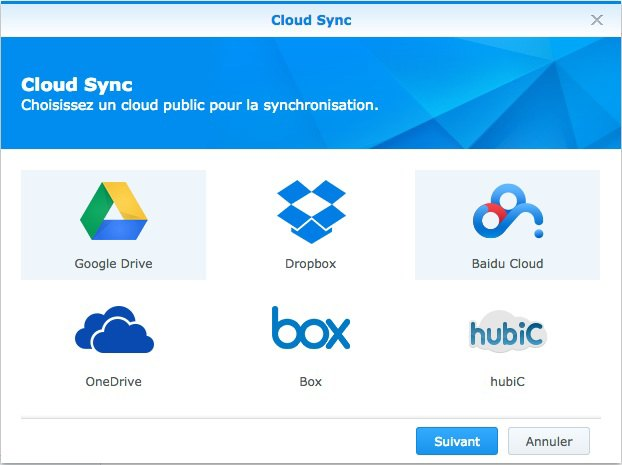 cloud sync hubic - DSM 5.1 Beta est disponible