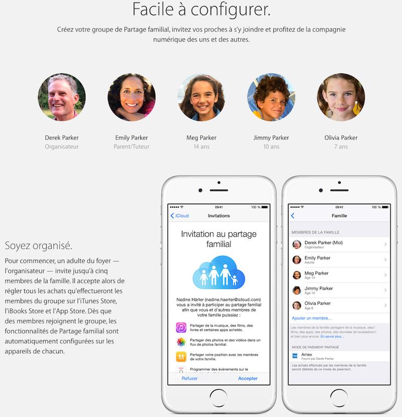 family sharing - Partage familial sous iOS 8, partageons votre CB...