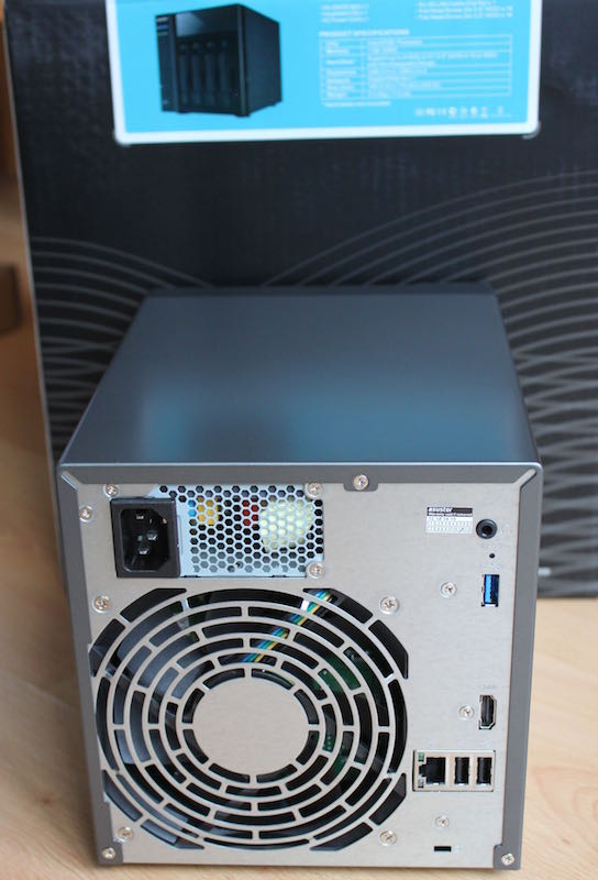 ASUSTOR AS 204TE arriere - Test NAS - ASUSTOR AS-204TE