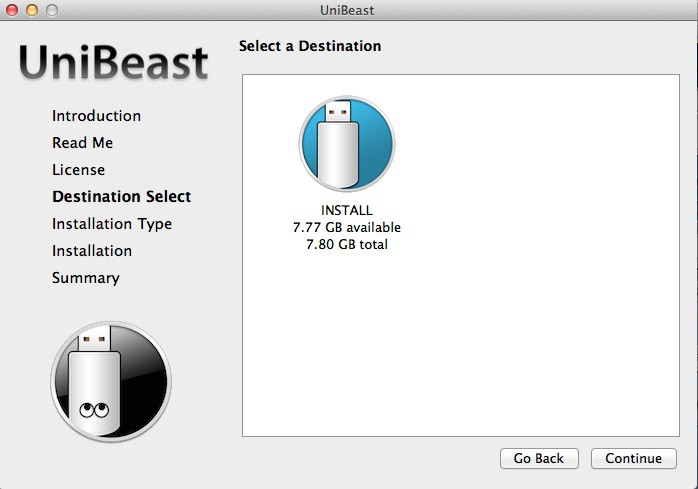 choix cle usb - Installer OS X Yosemite sur votre PC Intel en 5 étapes