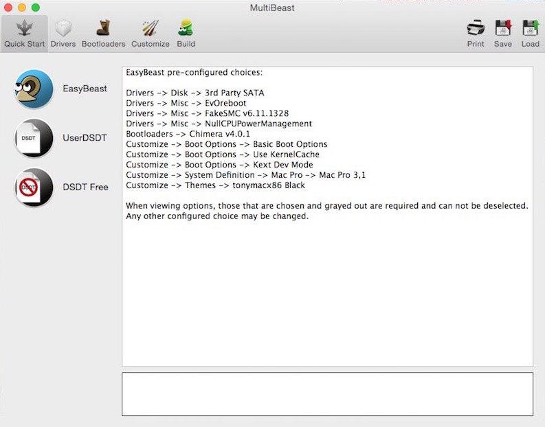 multibeast - Installer OS X Yosemite sur votre PC Intel en 5 étapes