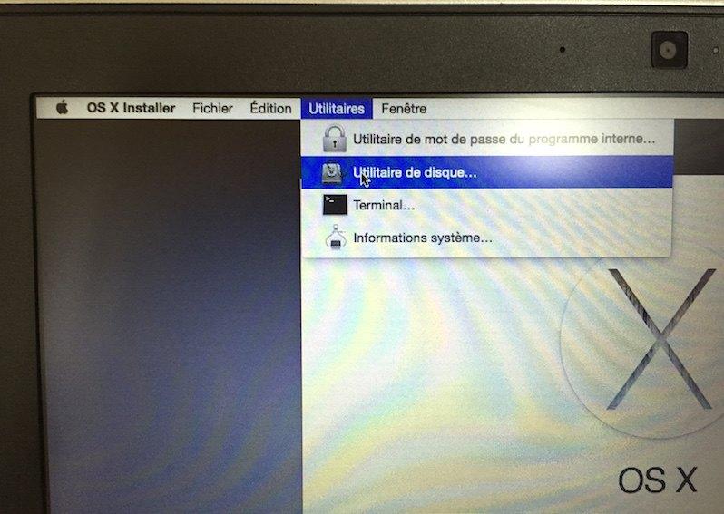 utilitaire disque hackintosh - Installer OS X Yosemite sur votre PC Intel en 5 étapes
