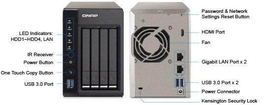 TS 451S - NAS QNAP TS-451S, le boitier 4 emplacements 2,5 pouces avec sortie HDMI