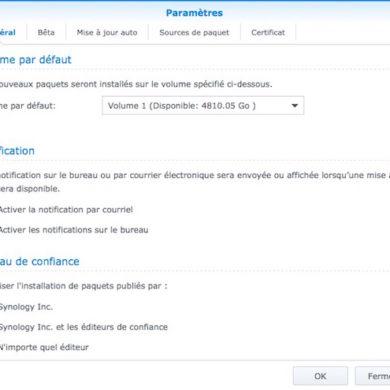 parametre centre paquets 390x390 - Synology - Comment modifier le niveau de confiance ? Ou comment installer un paquet sans certificat.