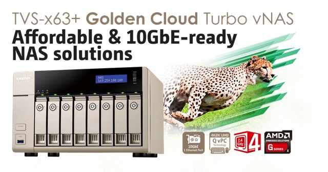 qnap tvs x63  - NAS - QNAP s'acoquine avec AMD : TVS-463, TVS-663 et TVS-863
