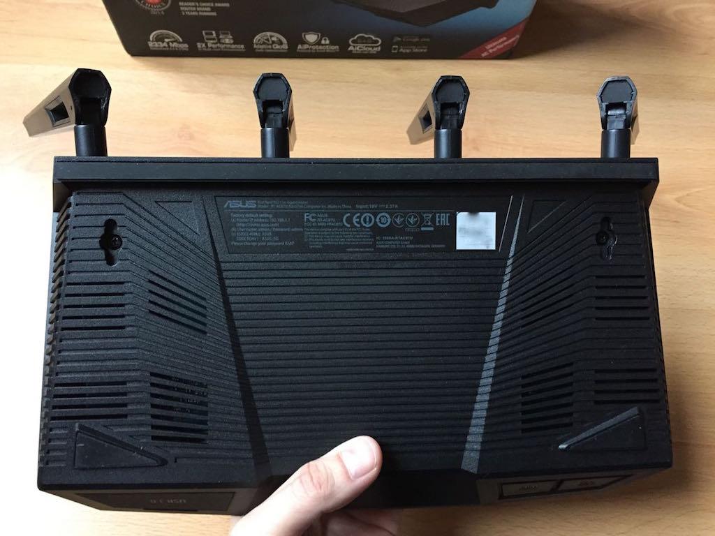 asus rt ac87u dessous - Test du routeur ASUS RT-AC87U
