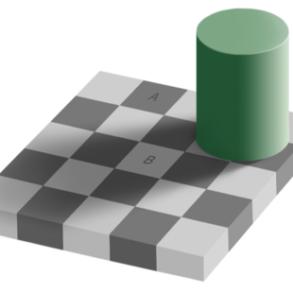 echiquier 293x293 - 10 illusions d'optiques hallucinantes