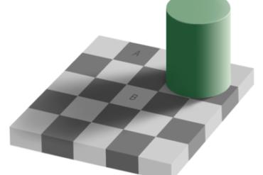 echiquier 370x247 - 10 illusions d'optiques hallucinantes