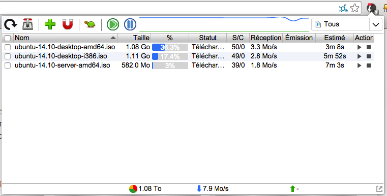 transmission easy client 1 - Les extensions pour vos applications NAS
