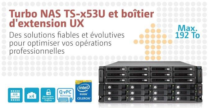 PR TS x53U fr - QNAP présente sa gamme Turbo NAS rackable TS-x53U
