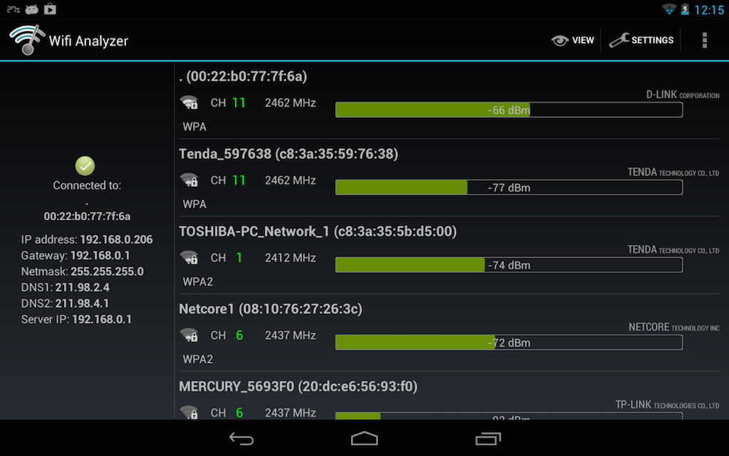 wifi analyzer type - Android - Comment analyser et optimiser son WiFi ?