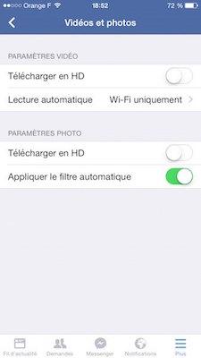 parametre video facebook - Comment économiser son forfait Internet 3G / 4G ?