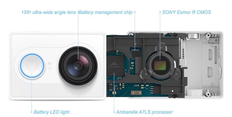 Test Xiaomi Yi Sport Camera specifications - Test de la caméra Xiaomi Yi Sport