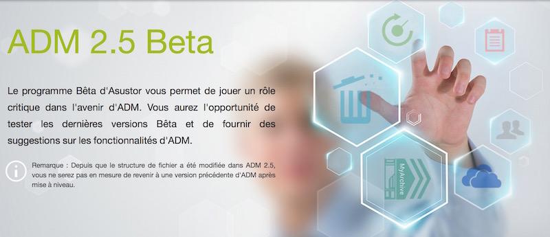 asustor adm 25 - NAS – ASUSTOR ADM 2.5 Beta débarque...