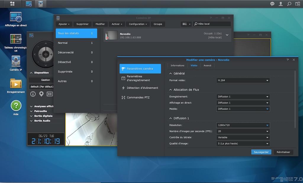 surveillance station novodio - Test de la caméra IP Novodio SmartCam HD Dome