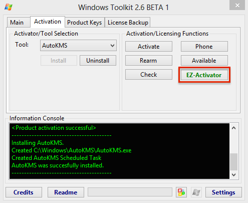 WT EZ Activator - Windows 8 et Windows 10... forcer l'activation