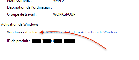 activation ok - Windows 8 et Windows 10... forcer l'activation