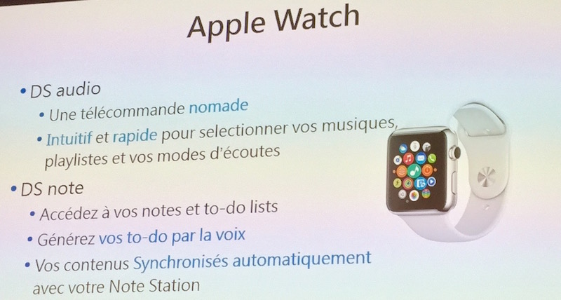 apple watch - Conférence Synology 2016 : DSM 6.0 et des applications...