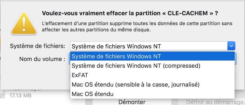 formater ntfs mac - NTFS pour OS X El Capitan