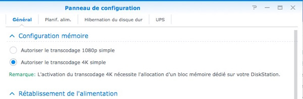 transcoder UHD synology - NAS - Test du Synology DS216play