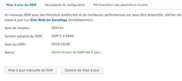 Synology DSM 52 - NAS Synology - Mise à jour DSM 5.2-5644 et Surveillance Station 7.1