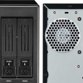 thecus N2810 front back 293x293 - NAS - Thecus lance le N2810 avec HDMI 4K et ThecusOS 7