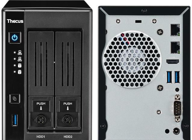 thecus N2810 front back - NAS - Thecus lance le N2810 avec HDMI 4K et ThecusOS 7