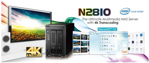 thecus os multimedia - NAS - Thecus lance le N2810 avec HDMI 4K et ThecusOS 7