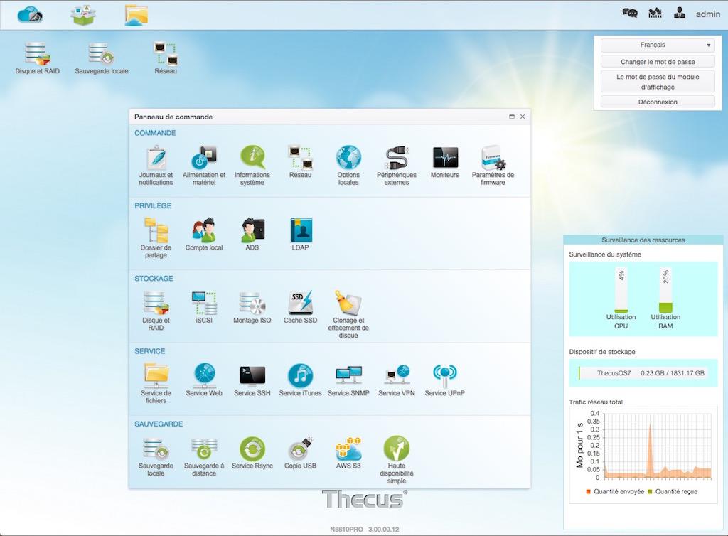 thecusos 7 - NAS - Thecus lance le N2810 avec HDMI 4K et ThecusOS 7