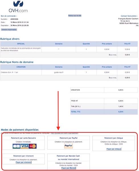 achat domaine 13 paiement - Auto-hébergement : Créer son nom de domaine