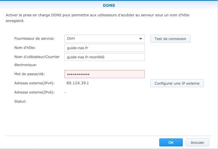 ddns guide nas syno - Auto-hébergement : Ajouter un nom de domaine à son NAS