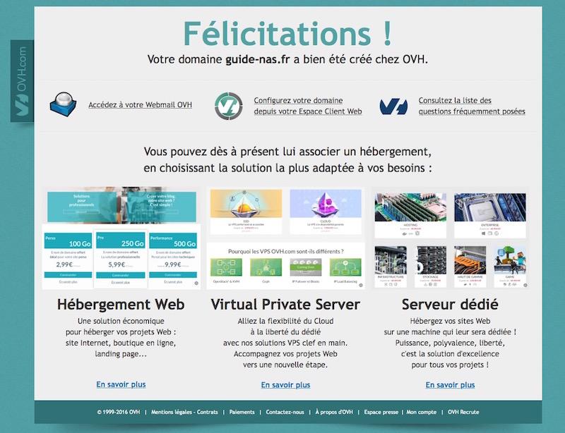 felicitations guide nas - Auto-hébergement : Créer son nom de domaine