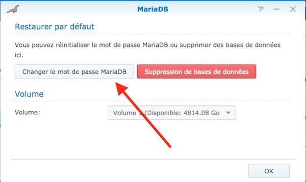 changer mot passe MariaDB Synology - Auto-hébergement : Monter un site web en 10 minutes avec un NAS