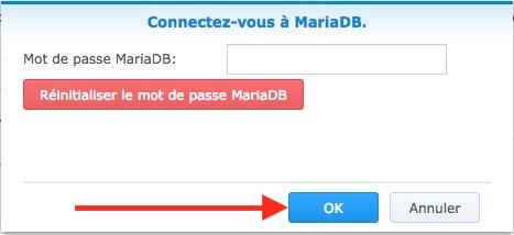 reinit pwd mariadb syno - Auto-hébergement : Monter un site web en 10 minutes avec un NAS