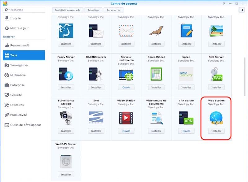 web station synology - Auto-hébergement : Monter un site web en 10 minutes avec un NAS