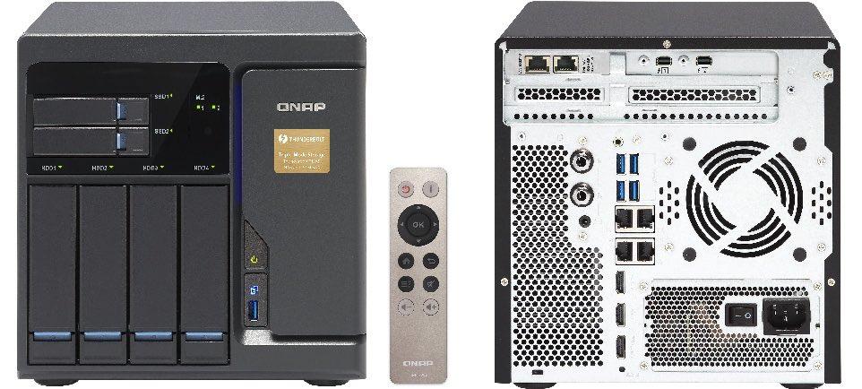 qnap tvs 682T - NAS - QNAP va lancer la gamme TVS-x82T : Intel Core i3 et i5, DDR4, HDMI 2.0, Thunderbolt 2, 10GbE, M.2, SSD, HDD...