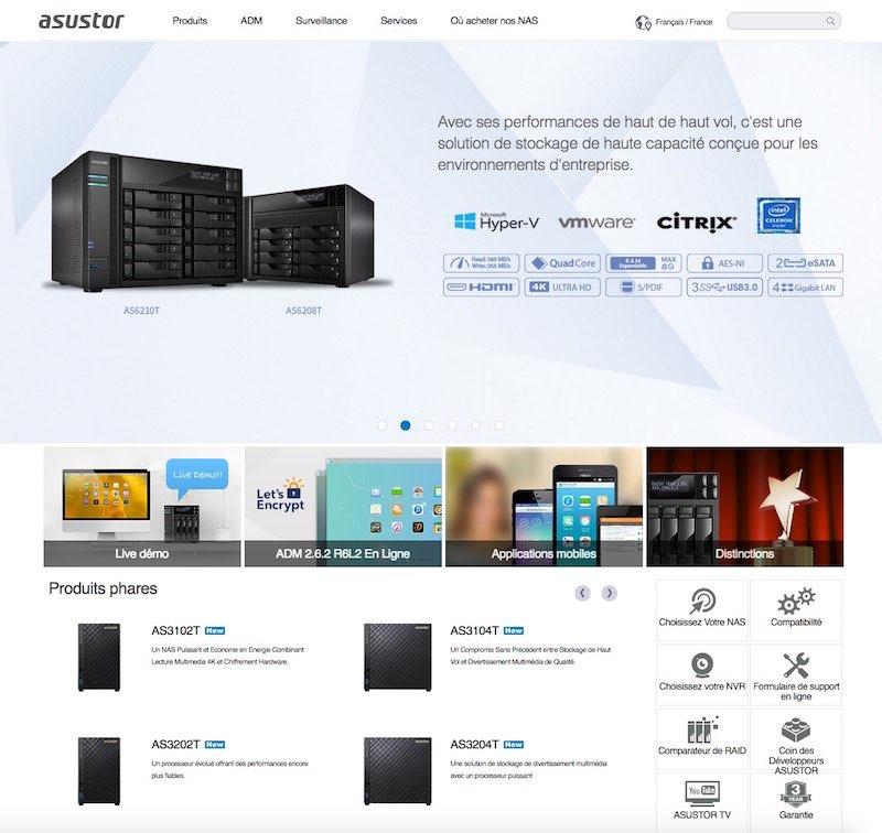 site-web-asustor-2016