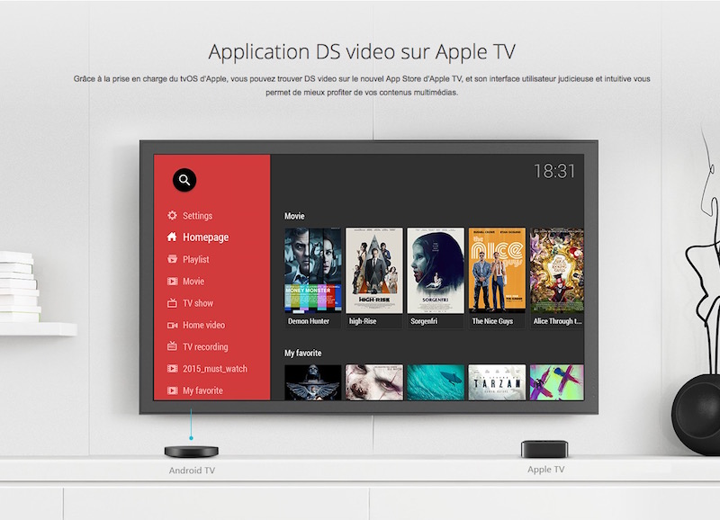synology android TV - Synology et Apple TV 4