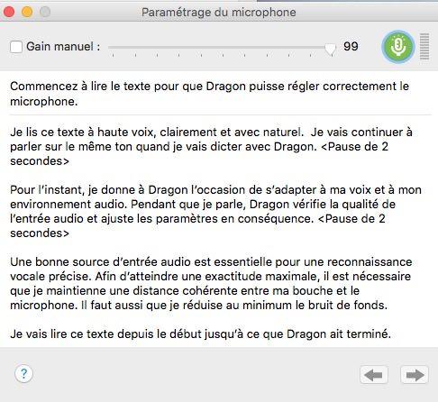 parametrage - Nuance Dragon pour Mac v5