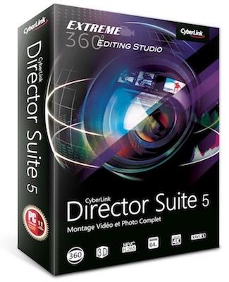 Director Suite 5 - Cyberlink supporte les caméras 360° et la 4K à l'honneur dans ses applications