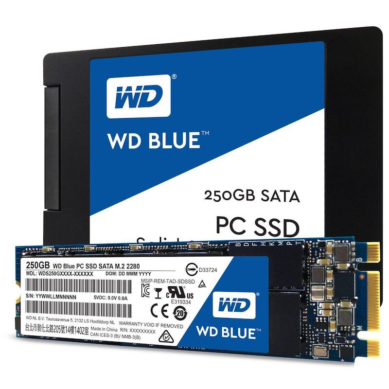 SSD WD BLUE - WD lance ses premiers SSD pour le grand public